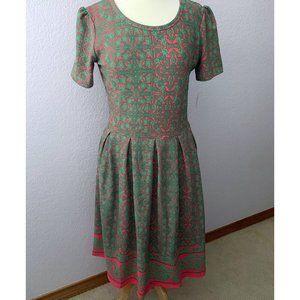 LuLaRoe Amelia dress NWT red coral green XL